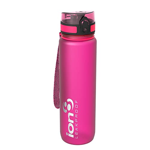 Ion8 Leak Proof Gym, Outdoors & Camping Water Bottle, BPA Free, 1 litre/1000ml/32oz