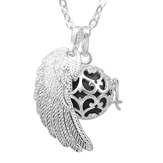 EUDORA Harmony Ball Pendant Lockets Chain Silver Tree of Life Love Musical Chime Bell Mother Day Best Gift Jewelry G9JrzDx