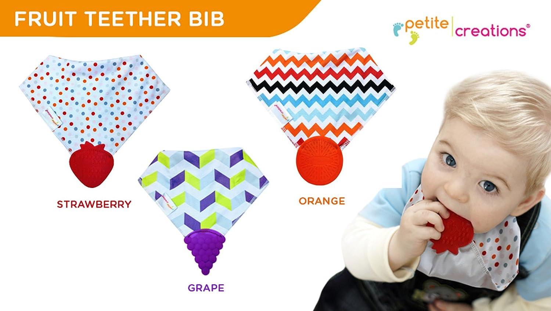 Petite Creations Teether Bib Grape