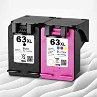 Remanufactured Ink Cartridge Replacement for HP 63XL 63 XL to fit with HP OfficeJet 3830 5255 4650 4652 5258 3833 5264…
