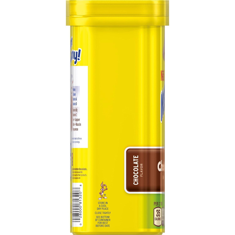 Amazon.com : Nesquik Chocolate Powder No Sugar Added, 16 oz ...