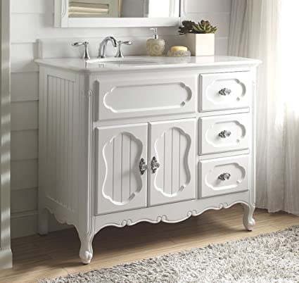 42u0026quot; White Victorian Cottage Style Knoxville Bathroom Sink Vanity ...
