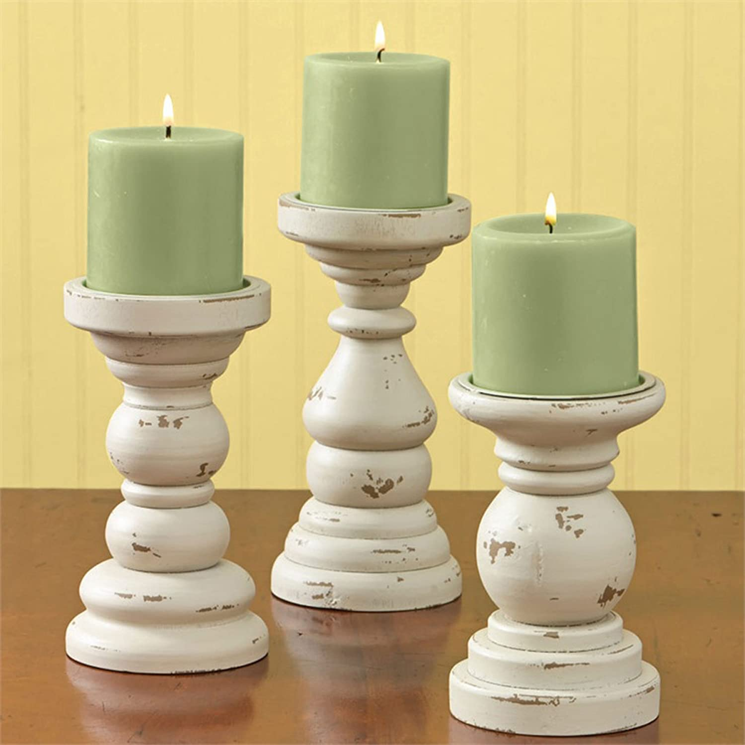 Southport Short Candlesticks Set of 3,Aged Cream Park Designs 4335410589