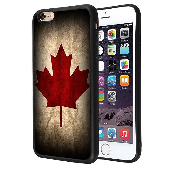 size 40 f40c8 2b0bd Amazon.com: iPhone 6s 6 Case,ZTtrade Canada Flag Design Bumper TPU ...