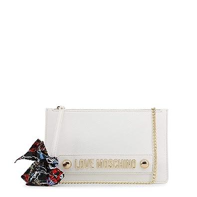 Moschino Love Moschino Femmes Echarpe cravate pochette Une Taille Blanc 829bc7cfa570