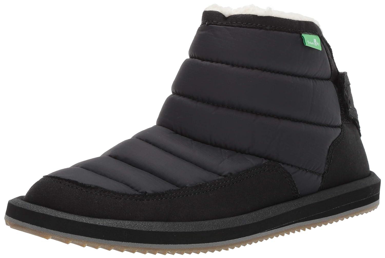 Sanuk Kids Unisex Lil Puffer Fashion Stiefel, schwarz, 01 M US Little