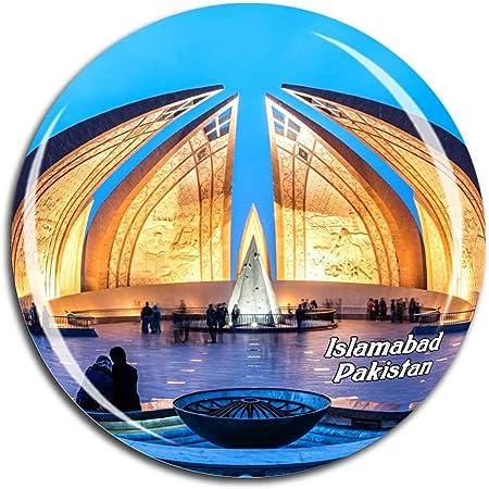 Islamabad Aimant de r/éfrig/érateur Motif horizon de la ville du Pakistan