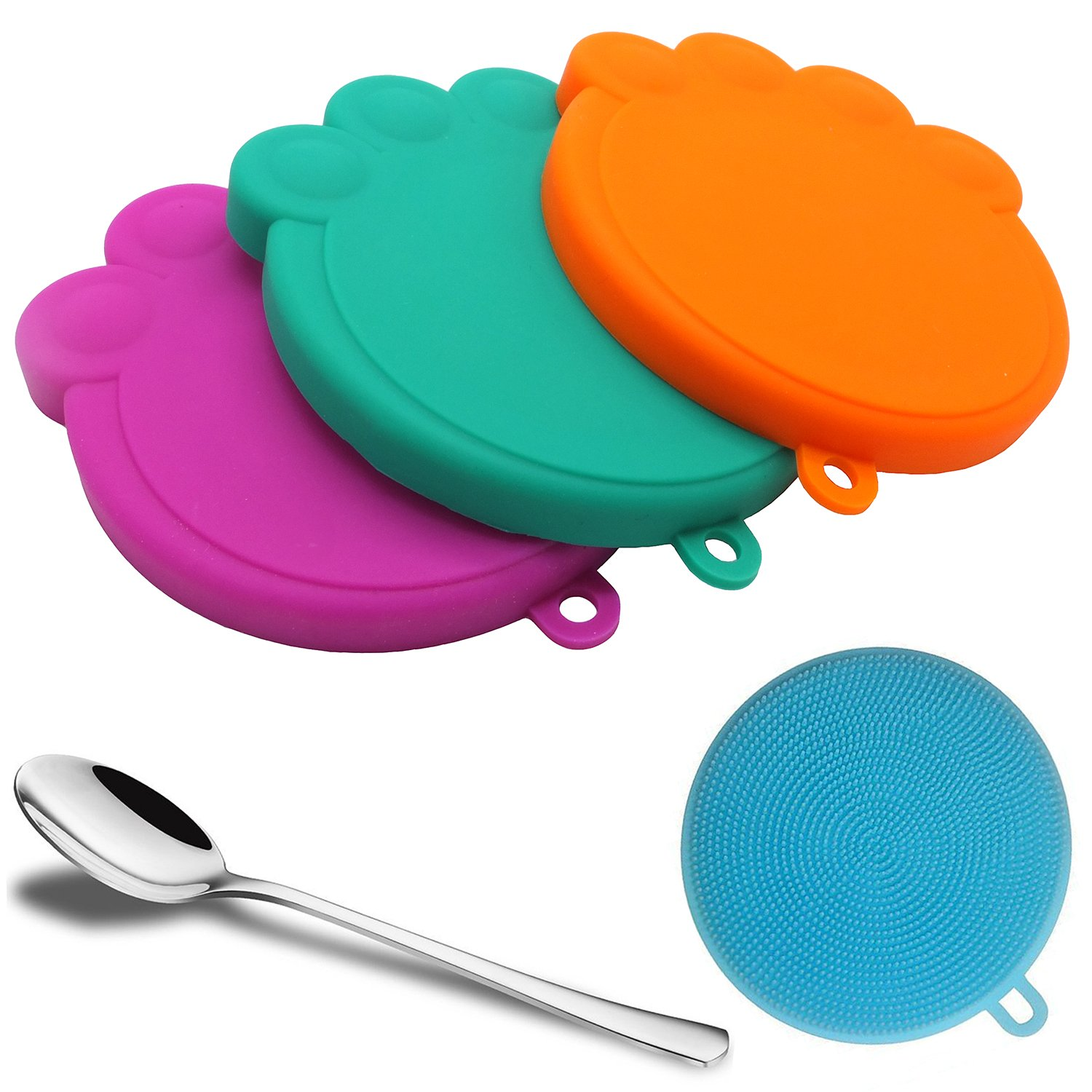 Joytale Universal Pet Food Can Covers/3 Pack/BPA Free & FDA Grade Silicone Created/Fits All Standard Size Dog and Cat Can Top