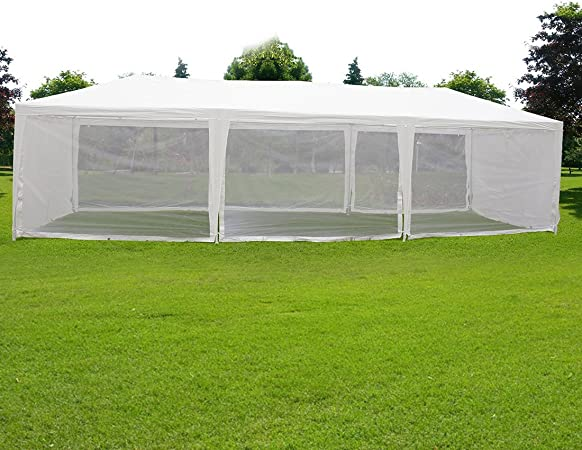 Large Garden Gazebo Marquee Hexagonal Party Awning Waterproof Shelter Shade NEW