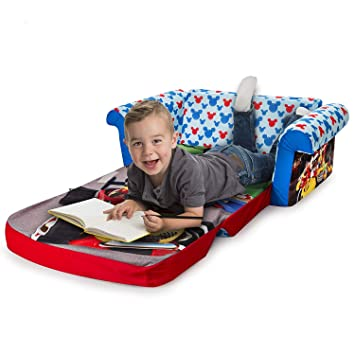 Excellent Amazon Com Disney Mickey Mouse Roadsters Flip Open Sofa Bed Pabps2019 Chair Design Images Pabps2019Com