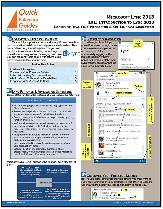 microsoft lync reference guide expert user guide u2022 rh manualguidestudio today Microsoft Office 2010 Reference Guide Microsoft Office Reference Guide