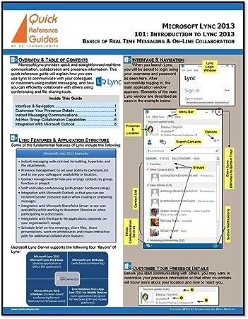 amazon com microsoft lync 2013 quick reference guide rh amazon com Microsoft Quick Source Guides Contemporary Quick Reference Guides