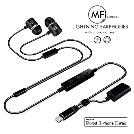 Amazon Com Apple Mfi Certified Compatible Lightning Headphone