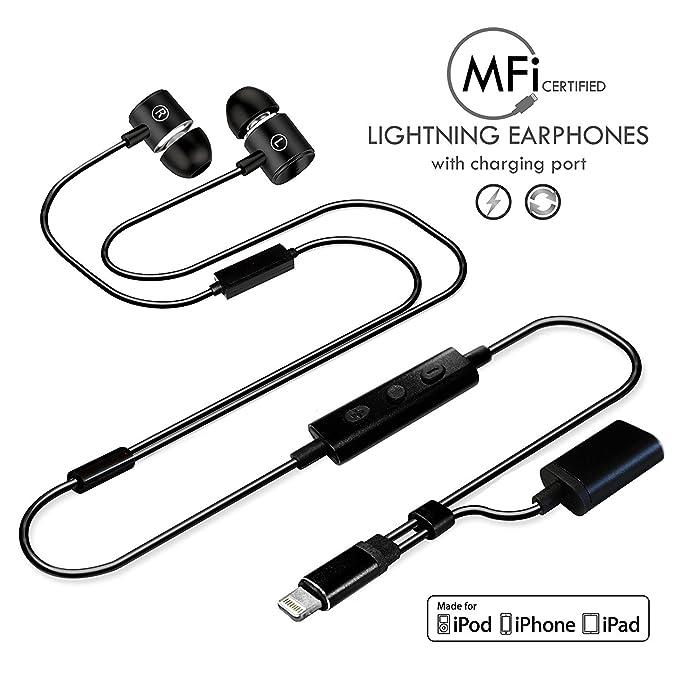 b2808b17398 [MFI Certified] Lightning Headphone/Earphone/Earbud,Wired HiFi Stereo In-