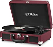 Victrola Vintage 3-Speed Bluetooth Suitcase Turntable with Speakers, Marsala