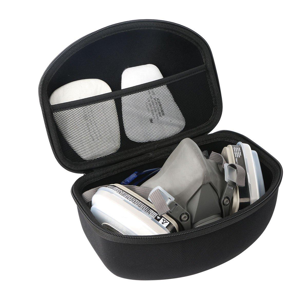 Khanka Hard Storage Case for 3M 07193 / 07192 Dual Cartridge Respirator Assembly,Organic Vapor/P95,Large