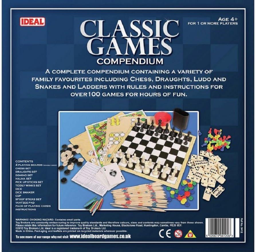 John Adams Ideal Classic Games - Lote de juegos de mesa clásicos (instrucciones en inglés) , color/modelo surtido: Amazon.es: Juguetes y juegos