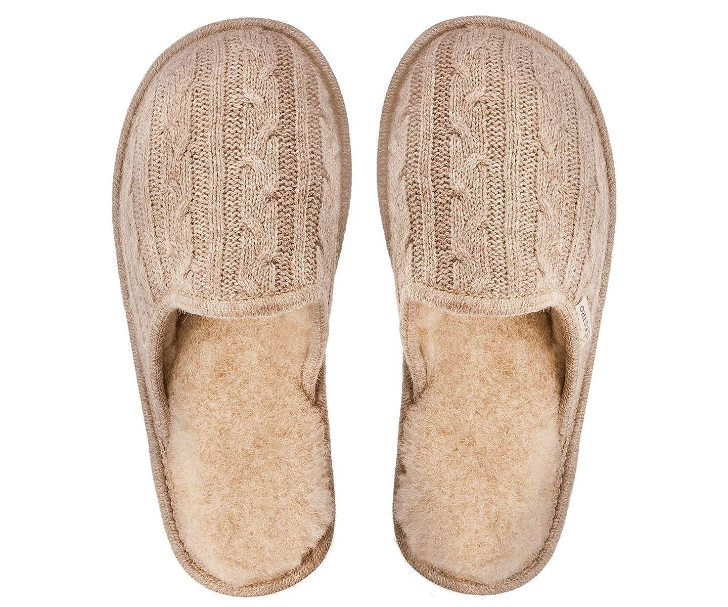 finest selection 7afba b2626 ESTRO Pantofole Donna Ciabatte Lana Donna Casa Pantofola ...