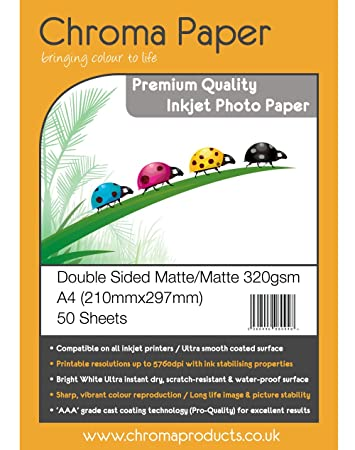 500 Mediarange Blatt Fotopapier DIN A4 matt beidseitig dual 200 g//m²