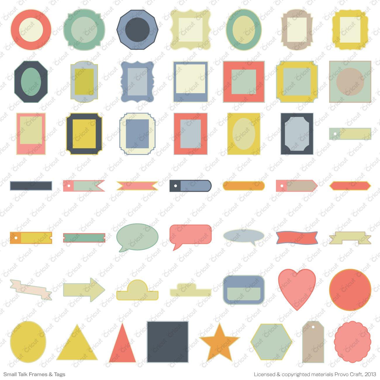 Delightful Amazon.com: Cricut 2002240 Talk Frames And Tags Cartridge For Artwork, Small