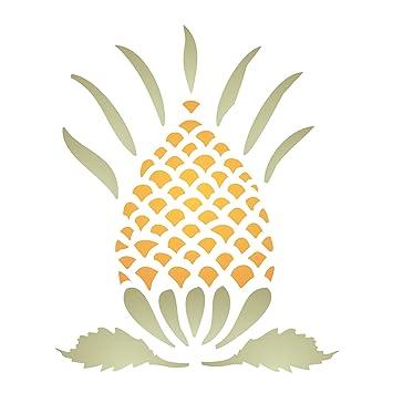 Ananas Schablone – wiederverwendbar Primitiv American Fruit Wand ...