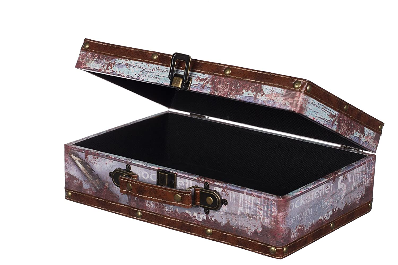 Truhe Kiste Kd 1293 Koffer Kofferset Holztruhe Mit Edlem Leder