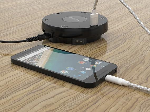 K04 2 x USB Type C cable 3.1 A 3.0 a cable de carga con cable de datos Nylon Tipo C para Samsung Galaxy S8 Plus A7 A5 A3 2017 Tab S3 ...