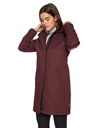 1f0bc649daf1 Levi's Women's Bunny Sherpa Lined Hooded Coaches Parka Jacket, Plum, ...