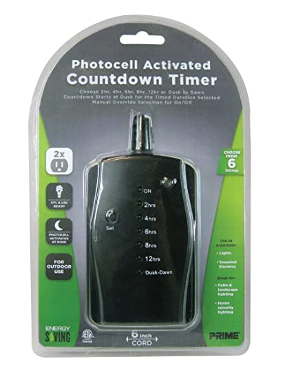 Awesome Outdoor Lighting Timer With Remote   Prime Wire U0026 Cable TNOLED02 2 Outlet  LED Countdown Pigtail .