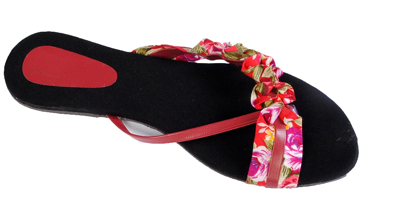 8a0b2e3d745e9f Rnjc Women s Red Fashion Sandal - 6  Buy Online at Low Prices in India -  Amazon.in