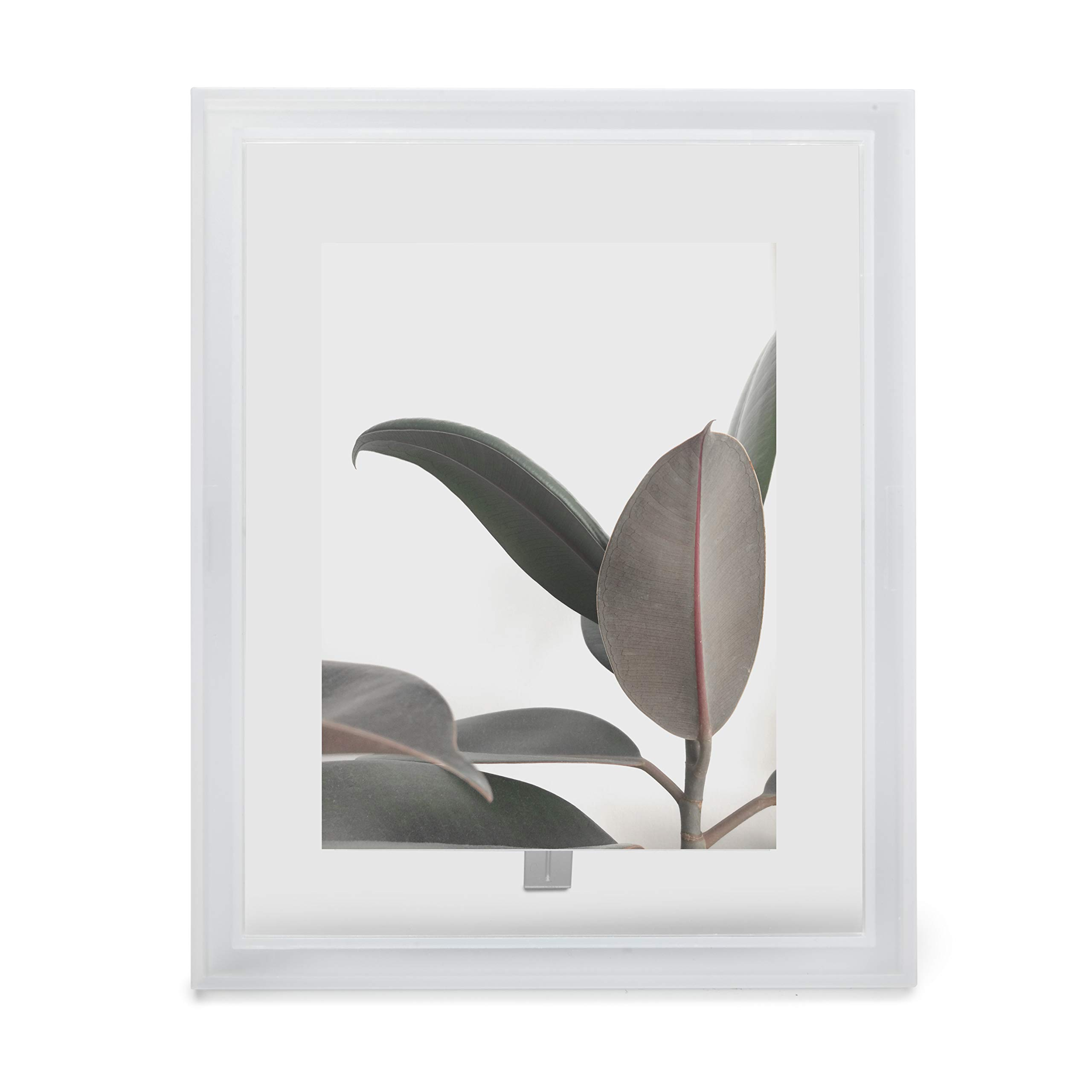 Umbra Lucent 5 x 7 Opaque, Float Photos or Display Edge, Acrylic Frame, Clear