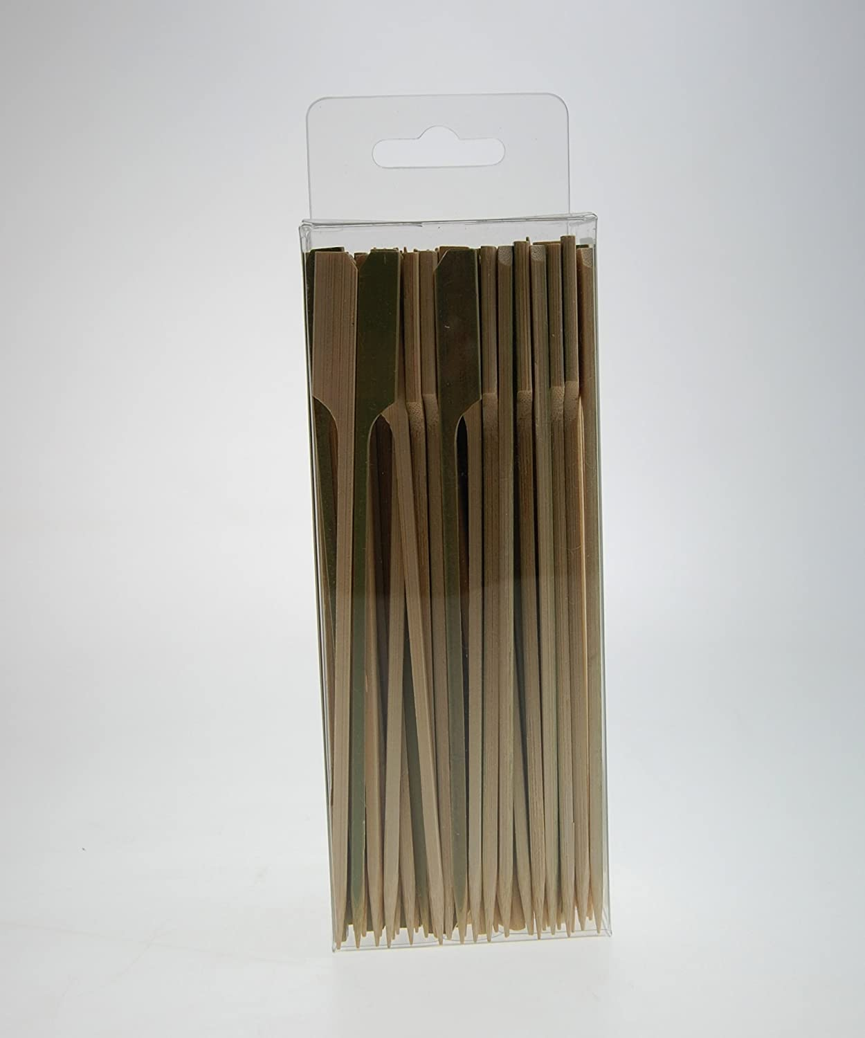 15cm Paddle Bamboo Wooden Skewers x 100 B04