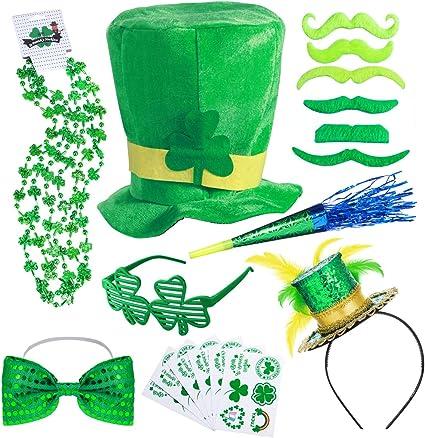 12 x IRISH SHUTTER SHAMROCK GLASSES ST PATRICK/'S DAY PARTY EVENT NOVELTY 12