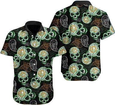 Camisa hawaiana de cachemira con calavera