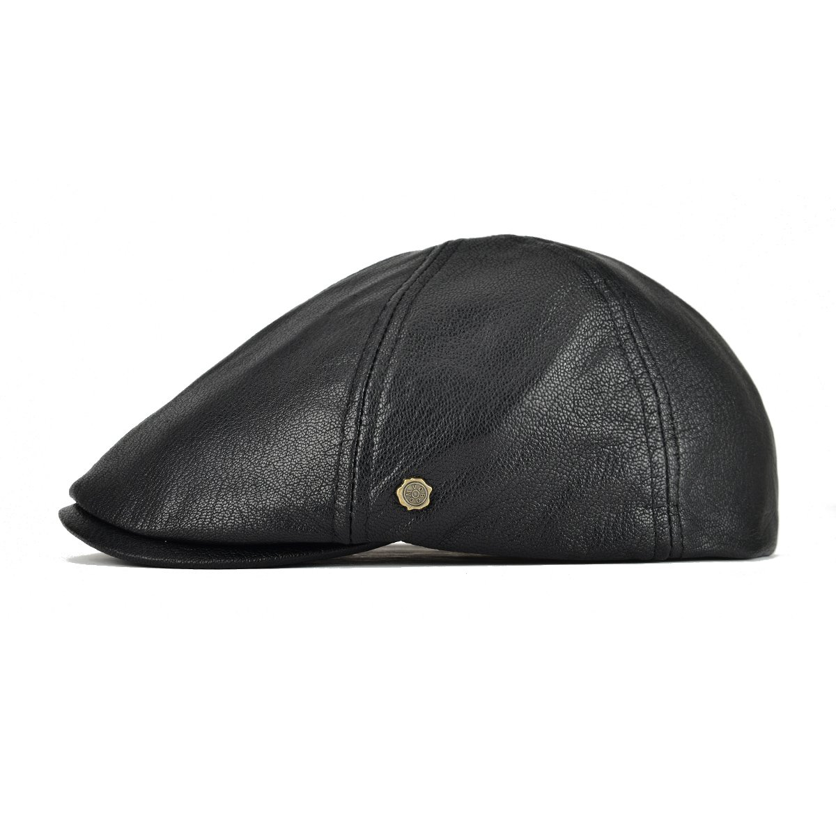 11eb93b3786 VOBOOM Lambskin Leather Ivy Caps Classic Ivy Hat Cap 6 Pannel Cabbie Beret  hat at Amazon Men s Clothing store