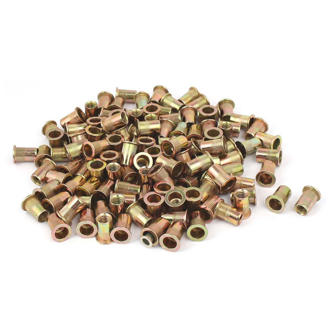uxcell 5/16''-18 Straight Knurled Rivet Nut Insert Nutsert Bronze Tone 150pcs by uxcell