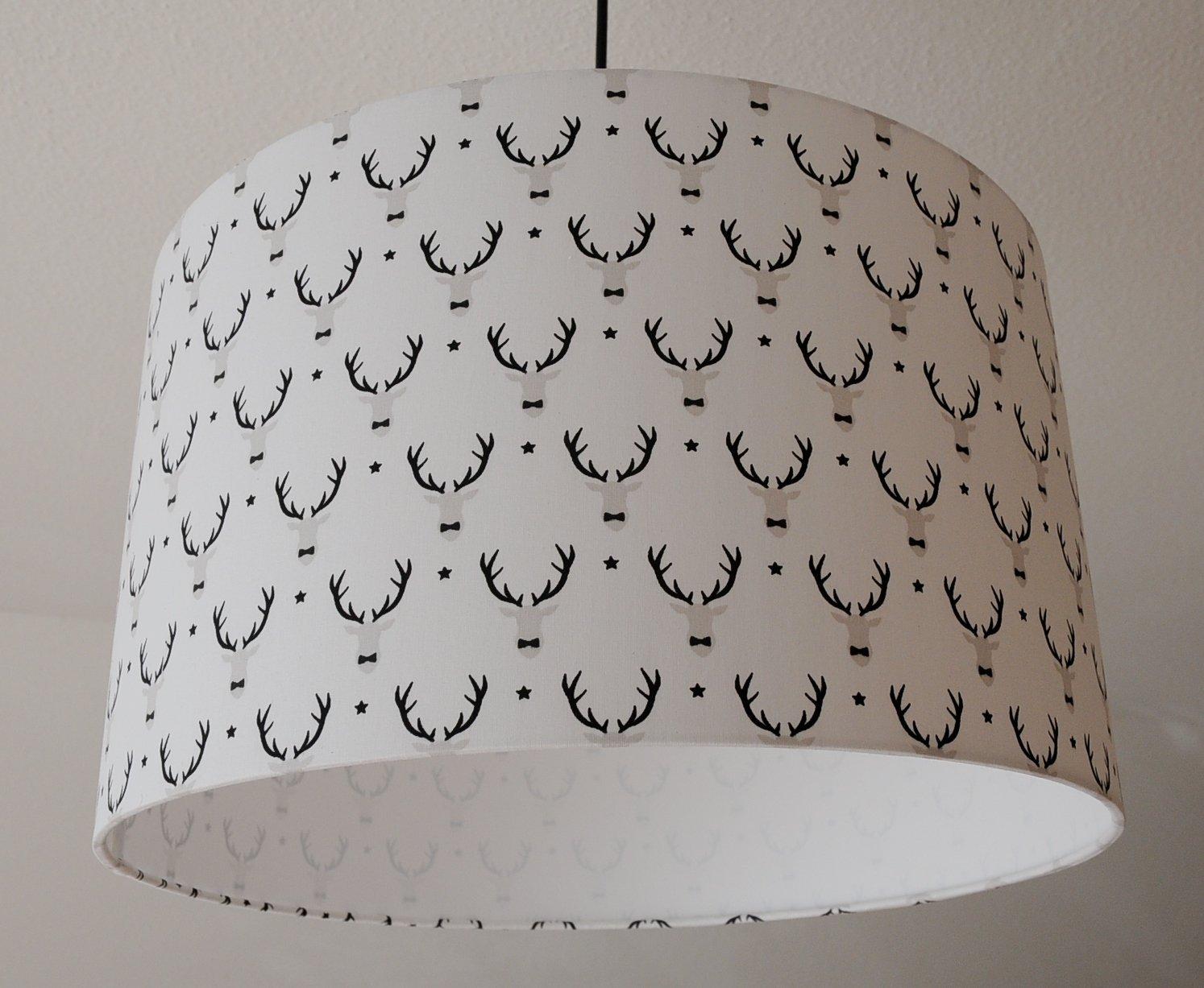 Deckenlampenschirm Hirschköpfer D 40cm. Farbe und Größe auf Anfrage