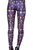 Roseate Women's 3D Pattern Leggings Fitted Pants Gym Workout Running Tights 813