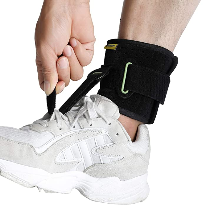 Adjustable Drop Foot Brace Foot Up Afo Brace Unisex Fits for Right /Left Foot Orthosis Ankle Brace Support, Improve Walking Gait, Effective Relieve Pain for Achilles Tendon