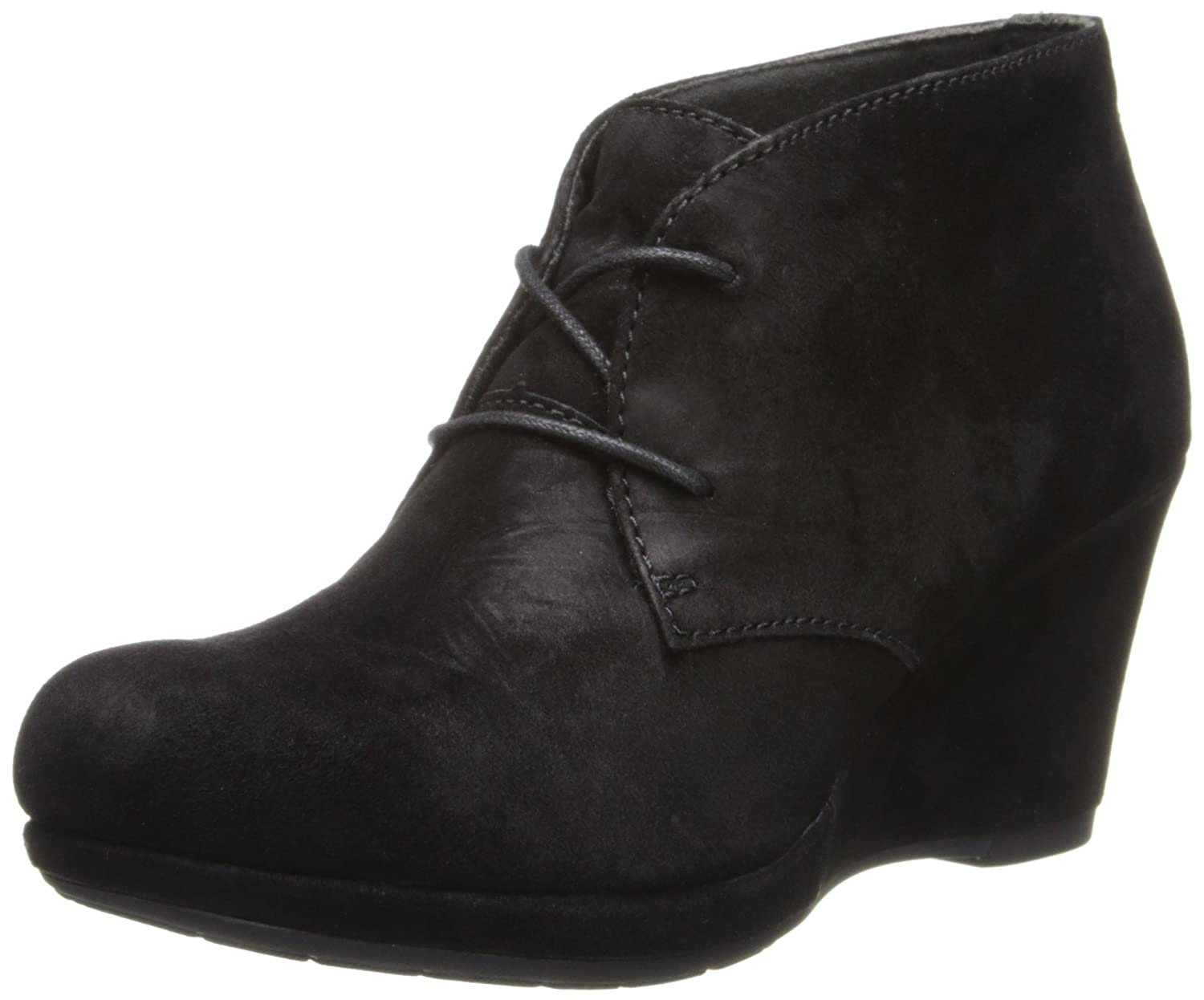 Amazon.com | CLARKS Women's Camryn Bronte Boot, Black Suede, 6 M US | Ankle  & Bootie