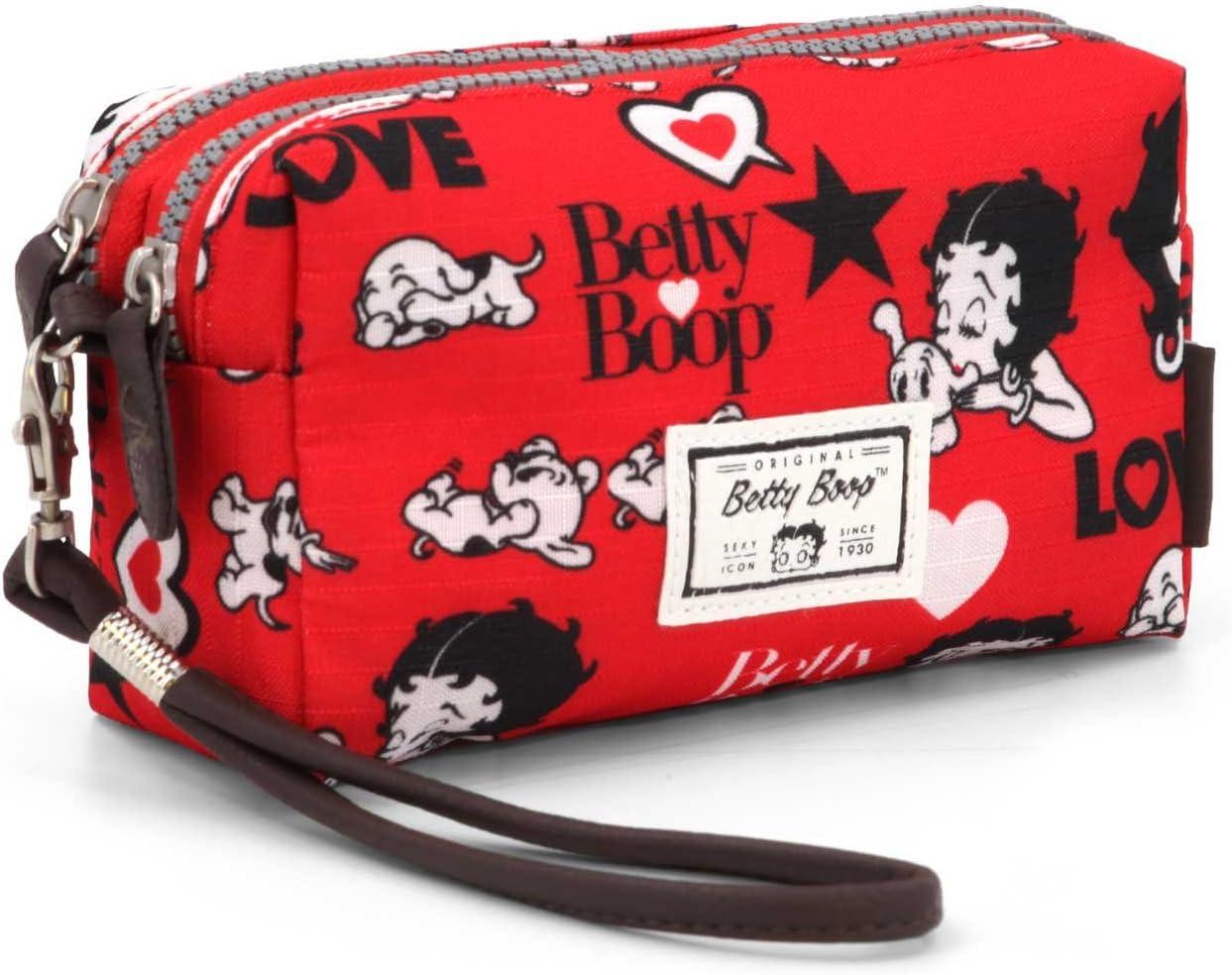 Betty Boop Rouge Trousse de Toilette 19 cm, Rojo