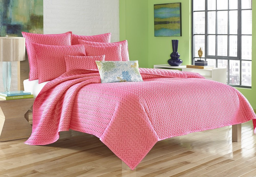 Five Queens Court King Catori Coverlet Pink 2032