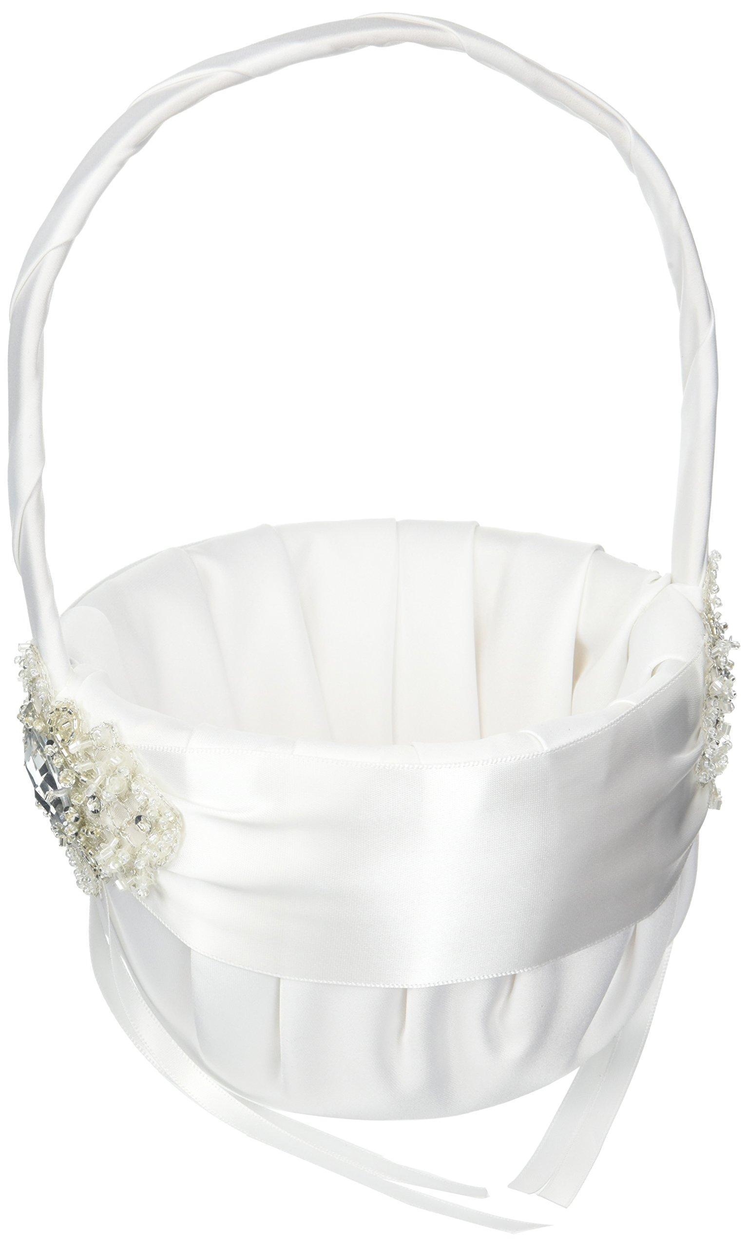 Ivy Lane Design Wedding Accessories Elizabeth Flower Girl Basket, White