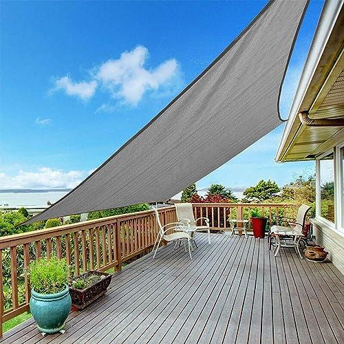 Shade Beyond Sun Shade Sail Rectangle Canopy 12' x 12' Sail Shade Dark Grey Sun Shades