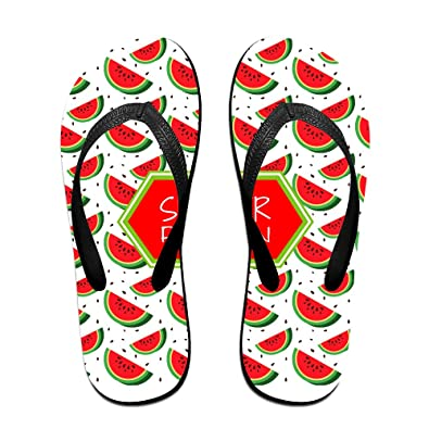 24008d1e0963 Summer Womens Slides Sandals Watermelon Pattern Beach Flip-Flop Sandal  Casual Girls Slippers  Amazon.co.uk  Shoes   Bags