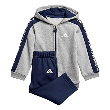 adidas Unisex Baby I 3 Stripes Full Zip con Capucha Polar Chándal ...