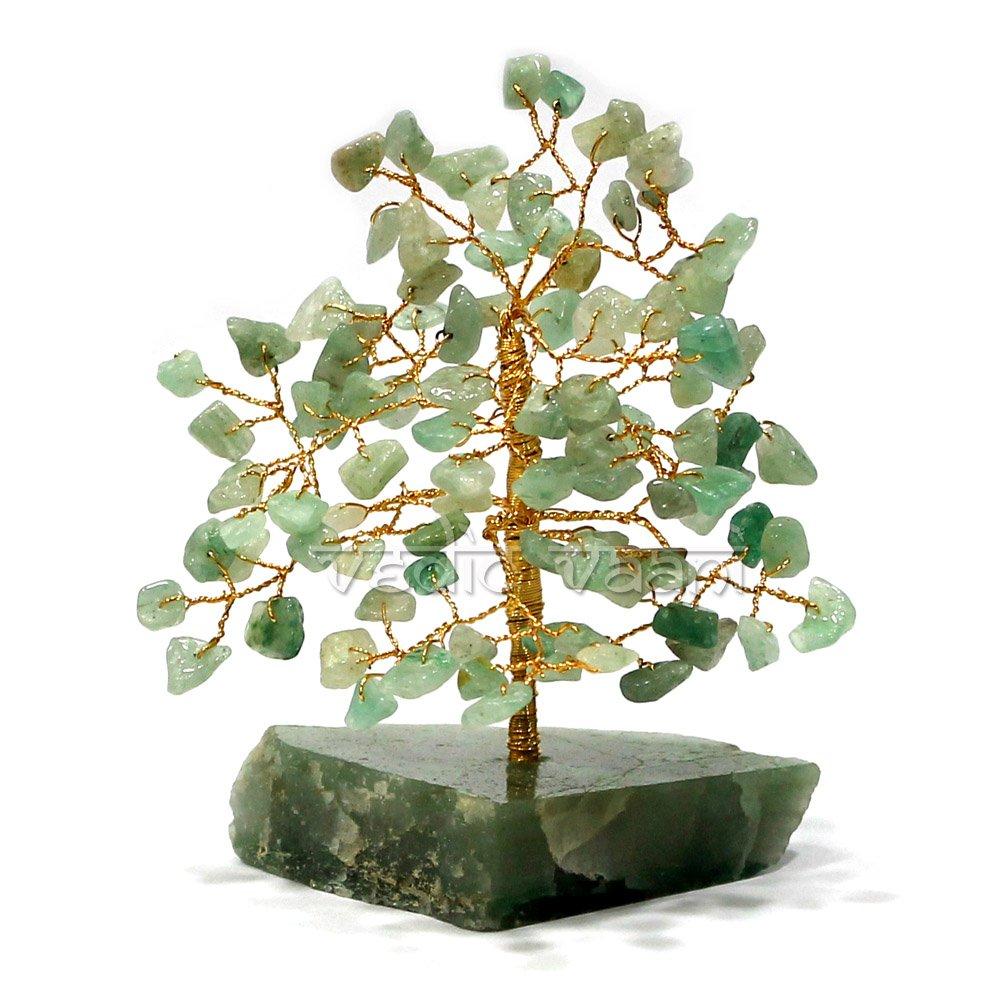 Green Aventurine Feng shui Gemstone Tree Vedic Vaani