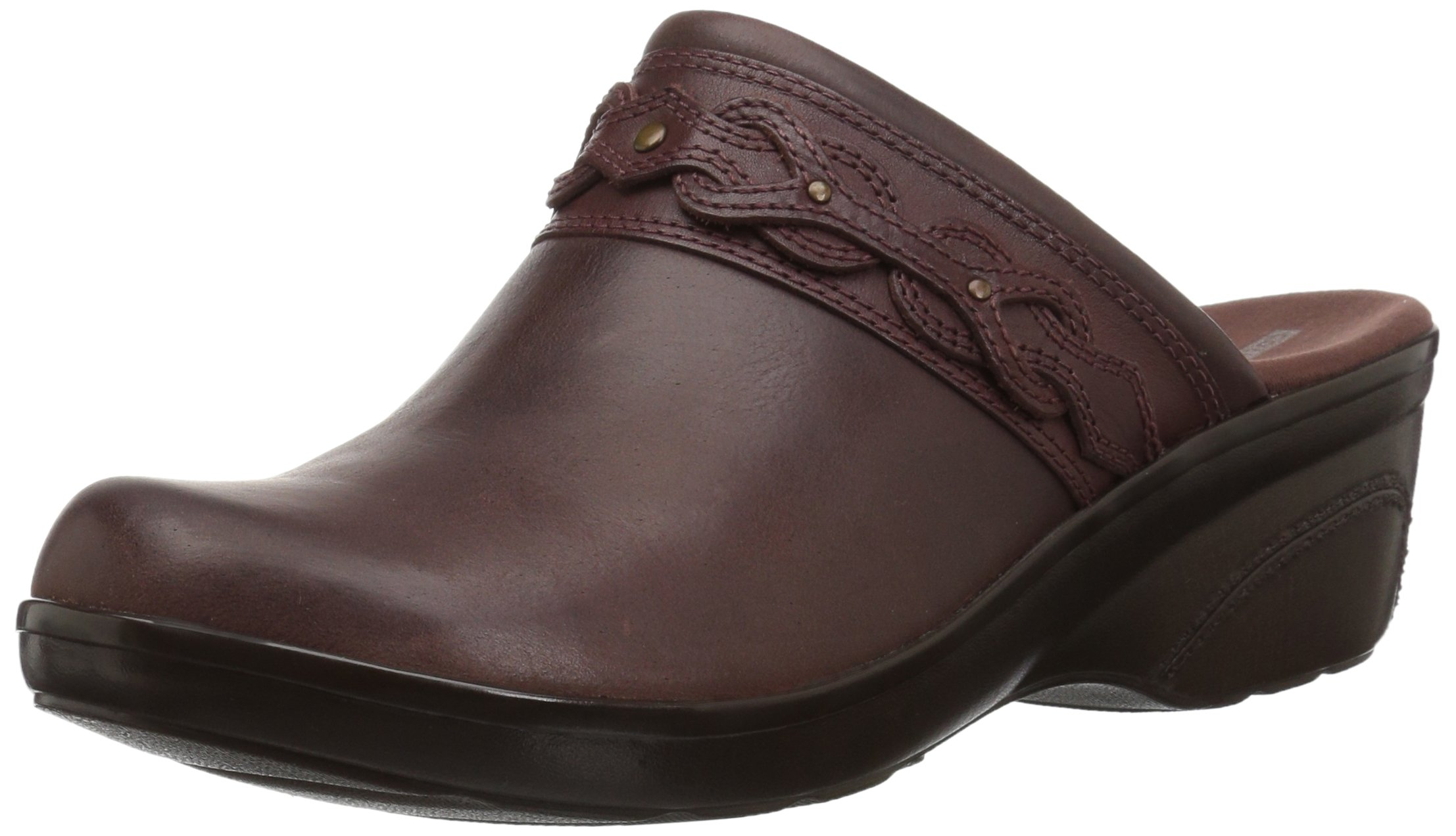 CLARKS Women's Marion Coreen Clog, Mahogany Leather, 065 W US