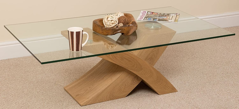 Milano x glass wood coffee table oak 135 w x 80 d x 45 h cm milano x glass wood coffee table oak 135 w x 80 d x 45 h cm amazon uk kitchen home geotapseo Gallery