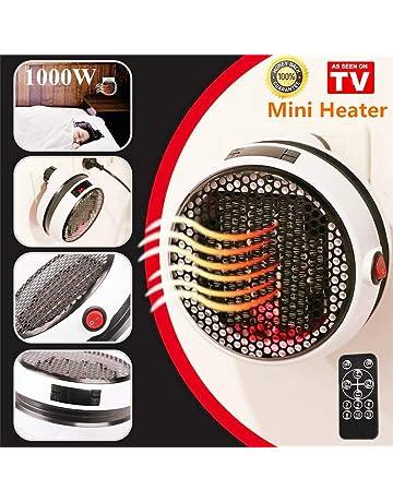 Nifogo Mini Heater - Estufa Eléctrica Portátil de Bajo Consumo, 1000 W con Enchufe Eléctrico